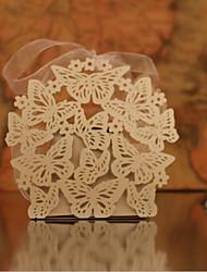 кубический перламутровый бумажный держатель с благосклонными коробками-10 свадебных аксессуаров