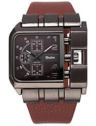 Oulm Pánské Náramkové hodinky Křemenný / PU Kapela Cool Běžné nošení Luxusní Černá Modrá Červená Hnědá Bílá Černá Kávová Červená Modrá