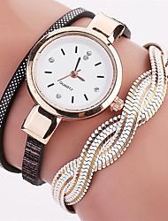 Mulheres Relógio de Moda Bracele Relógio Relógio de Pulso Quartzo Colorido PU Banda Vintage Pontos Boêmio Pendente Bracelete Legal Casual