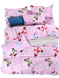Mingjie Wonderful Pink Butterfly Bedding Sets 4PCS for Twin Full Queen King Size from China Contian 1 Duvet Cover 1 Flatsheet 2 Pillowcases