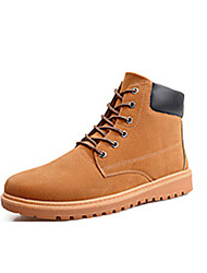cheap -Men's Shoes Suede Winter Combat Boots Boots Walking Shoes for Casual Outdoor Dark Blue Dark Brown Khaki