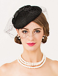 baratos -lã net fascinators hats headpiece classical feminine style