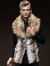 cheap -Men's Daily Classic & Timeless Winter Vest,Others Peter Pan Collar Sleeveless Regular N/A Artistic Style