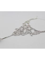 Women's Anklet/Bracelet Rhinestone Imitation Diamond Bridal European Leaf Jewelry For Wedding Party Daily Casual