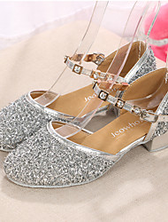 Kids' Dance Shoes Paillette Paillette Modern Heels Low Heel Indoor / Performance Silver / Gold / Fuchsia Customizable