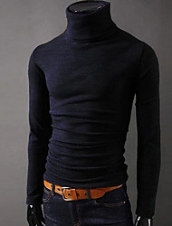 cheap -Men's Sports Vintage Casual Slim T-shirt - Solid Colored Turtleneck