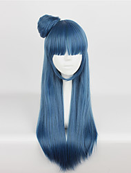 Cosplay Wigs Love Live Cosplay Blue Long / Straight Anime/ Video Games Cosplay Wigs 75 CM Heat Resistant Fiber Unisex