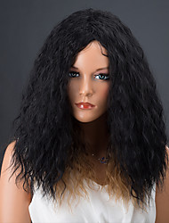 Women Synthetic Wig Curly Afro Black/Strawberry Blonde Natural Wigs Costume Wig