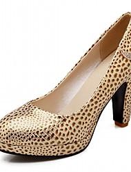 Women's Heels Spring Fall Leatherette Office & Career Casual Dress Stiletto Heel Gold White Blue
