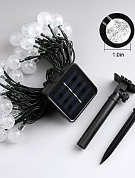 cheap -Jiawen 4.5m 30leds 8 Modes Outdoor Waterproof Solar LED String Lights