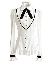 cheap -Blouse/Shirt Sweet Lolita Dress Women's Girls' White Lolita Accessories Blouse Polyester