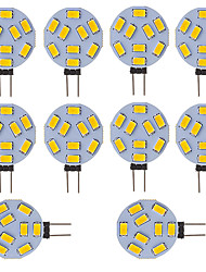 abordables -10pcs 300lm G4 LED à Double Broches Tube 9 Perles LED SMD 5730 Blanc Froid 12V