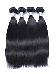 cheap -Brazilian Hair Straight Human Hair Weaves 4 Pieces / Lot 50g / pcs 8 - 30 inch Natural Color Hair Weaves Low Price