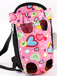 cheap -Cat Dog Carrier & Travel Backpack Front Backpack Pet Carrier Portable Cute Love Pink