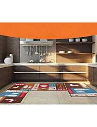 Country Polyester Microfiber Area Rugs