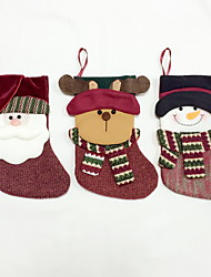 cheap -High Quality M Size Textile Christmas Stocking