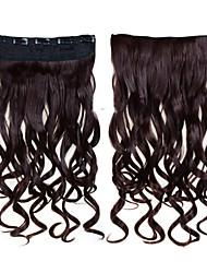 Недорогие -24inch 60cm 120g Цвет 33 # клип в наращивание волос на волнистую клип на шиньоны