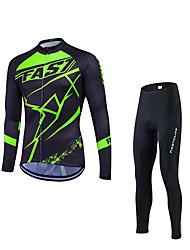 Giacca con pantaloni da ciclismo Per uomo Manica lunga Bicicletta Set di vestiti Tenere al caldo Antivento Fodera di vello