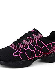 cheap -Women's Dance Shoes Sneakers Breathable Synthetic Low Heel Black/White