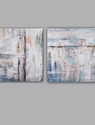 abordables -Peinture à l'huile Hang-peint Peint à la main - Abstrait Classique Moderne Inclure cadre intérieur / Toile tendue