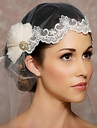 Veli da sposa 1 strato Accessori per capelli con velo Bordo tagliato Organza