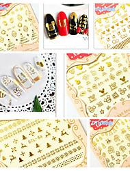 economico -5 pcs Adesivi 3D unghie manicure Manicure pedicure Di tendenza Quotidiano / Adesivi per unghie 3D