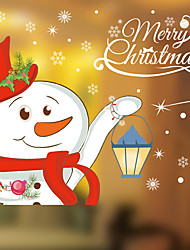 Wall Stickers Wall Decals Style Christmas Snowman PVC Wall Stickers