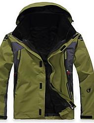 Herrn Wanderjacke warm halten Windundurchlässig Isoliert Komfortabel Dick Oberteile für Schnee Sport Alpin Ski Snowboarding Laufen