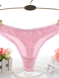 cheap -Women G-strings & Thongs,Cotton PantiesLace,Solid Color,soft