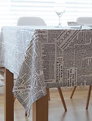 Rectangular Patterned Table Cloth , Linen / Cotton Blend Material Wedding Banquet Dinner Christmas Decor Favor Table Decoration Weddings