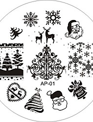cheap -Nail Art Stamp Stamping Image Template Plate AP Series 25 style
