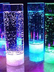 1шт 400мл 7 изменение цвета привело пить свет ночи чашки СИД проблесковый свет сок для КТВ партия бар беспламенные огни чашки