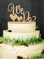 abordables -décorations de mariage en bois printemps été automne hiver réception de mariage
