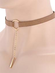 abordables -Femme Collier court /Ras-du-cou Pendentif de collier Tattoo Choker Bijoux Molleton Tatouage bijoux de fantaisie Mode Personnalisé Bijoux