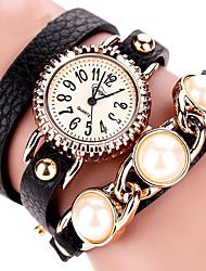 economico -Da donna Orologio alla moda Orologio da polso Orologio braccialetto Quarzo Colorato PU BandaVintage Stile Boho Pieghe Ciondolo