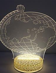 Недорогие -самый лучший подарок мини 3d эффект теплый белый цвет ночной светильник