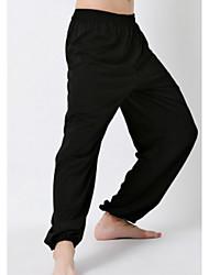 Da uomo A vita medio-alta Attivo Media elasticità Attivo Pantaloni della tuta Pantaloni,Largo Tinta unita