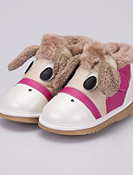 Girls' Shoes Leather Comfort Boots For Casual Coffee Blushing Pink
