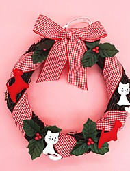 Christmas Wreath Pine Needles Christmas Decoration For Home Party Diameter 25cm Navidad New Year Supplies
