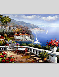 cheap -Oil Paintings Modern Sea View Canvas Material with Stretched Frame Ready To Hang SIZE60*90CM.