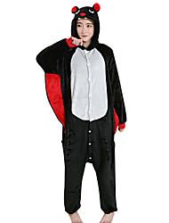 abordables -Pyjamas Kigurumi Chauve souris Combinaison de Pyjamas Costume vison de velours Noir Cosplay Pour Adulte Pyjamas Animale Dessin animé