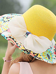 cheap -Women's Holiday Straw Hat - Patchwork