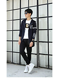 Autumn coat male Korean version of the influx of students in the long section casual jacket Slim Teen Autumn hooded coat