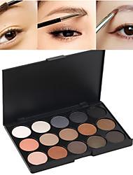 baratos -15 cores Sombra para Olhos Pós 1 pcs Secos / Mate / Brilho Prova-de-Água / Gloss com Purpurina Brilhante / Gloss Colorido Olhos Maquiagem Cosmético