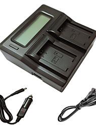 ソニーA5000 A5100 a7r nex6 7 5tl 5R 5N 3NL C3カメラbatterysのための車の充電ケーブルでismartdigi FW50の液晶デュアル充電器