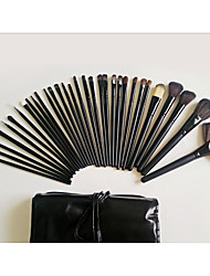 Makeup Brush Set Synthetic Hair Horse Synthetic Eco-friendly Horse Hair Portable Professional Full Coverage Wood Lip Face Eye Others