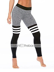 Women's Skinny Sweatpants Pants,Casual/Daily Active Striped High Rise Elasticity Polyester Stretchy Fall / Winter