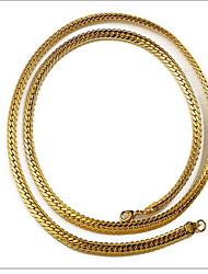 Недорогие -Муж. Ожерелья с подвесками - Классический Золотой Ожерелье Бижутерия Назначение Новогодние подарки, День рождения, Повседневные