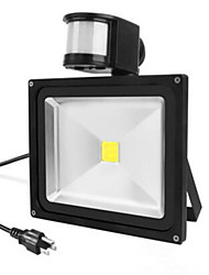Ac85-265v 50w blanc froid / blanc chaud 5000lm infrarouge induction du corps humain floodlight1pc