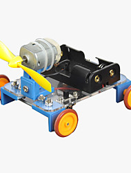 cheap -Crab Kingdom Model Assembled DIY Technology to Produce Handmade Yellow Wheel Wind Car on The 7th Material Package